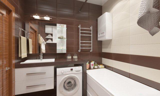 Ванная трехкомнатной квартиры