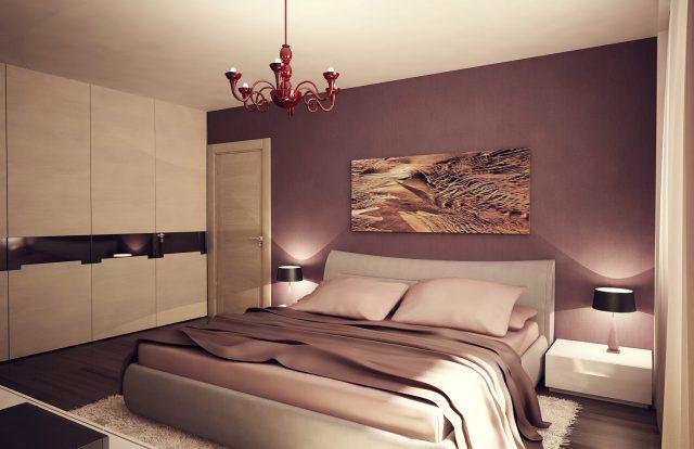 Спальня трехкомнатной квартиры