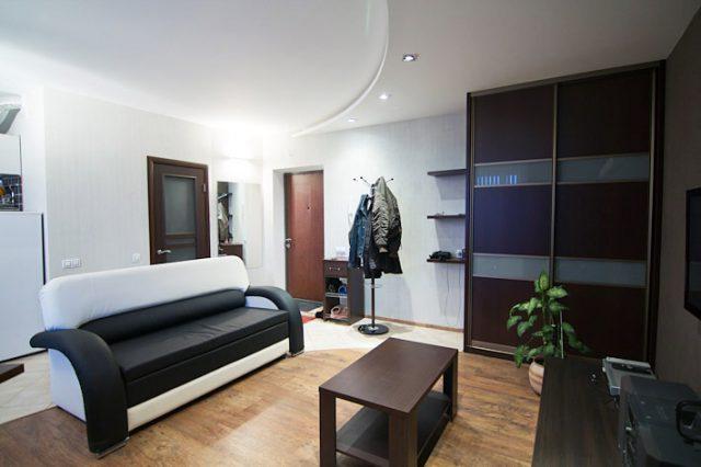 Жилая комната после ремонта