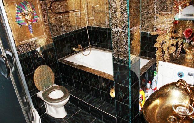 Бедная роскошь в ванной