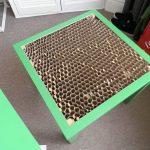Зеленый стол Икеа - под крышкой