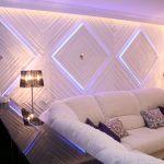 Цветодиодная подсветка на стене