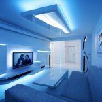 Цветодиодная подсветка на потолке