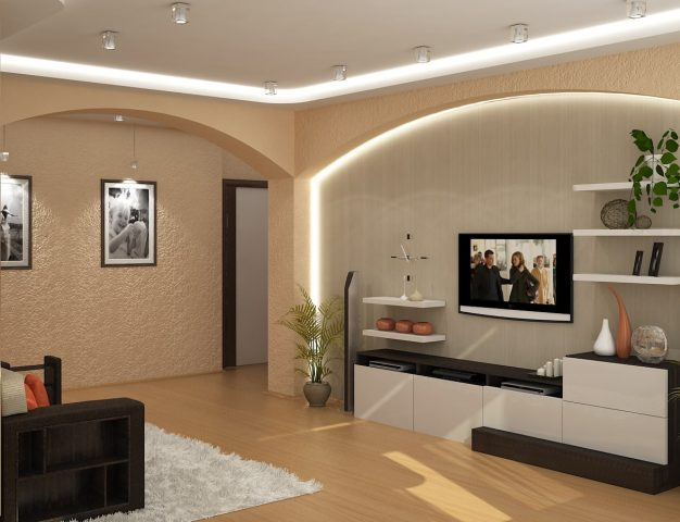 Светлый евроремонт в квартире