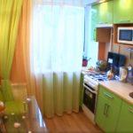 Вид на кухню после ремонта