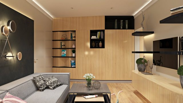 Прихожая двухкомнатной квартиры