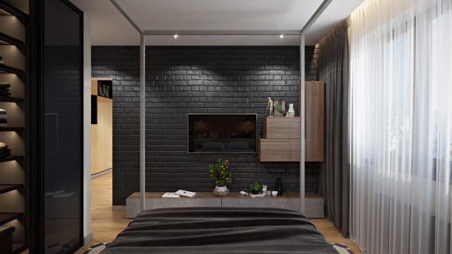 Спальня двухкомнатной квартиры