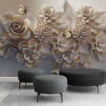 Букет цветов на стене