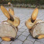 Зайчики из дерева
