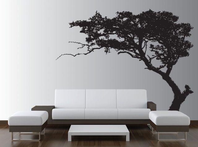 Наклейка на стену в виде дерева