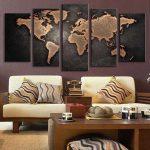 Карта мира на коллаже