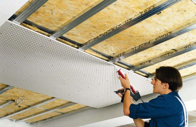 Шумоизоляция потолка вквартире