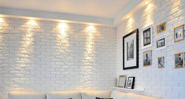 Гипсовая плитка под кирпич для внутренней отделки стен