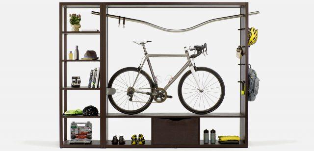 Хранение велосипеда на стеллаже
