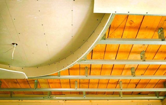 Монтаж гипсокартонного потолка